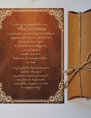 Invitatie nunta suport canvas OPIS016