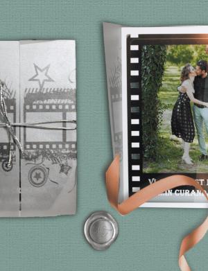 Invitatie nunta hartie foto OPIS018