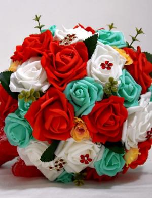 Buchet flori de spuma si accesorii FEIS014
