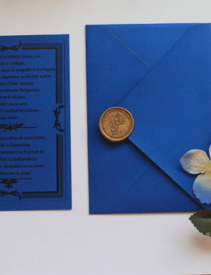 Invitatie nunta cu sigiliu OPIS025