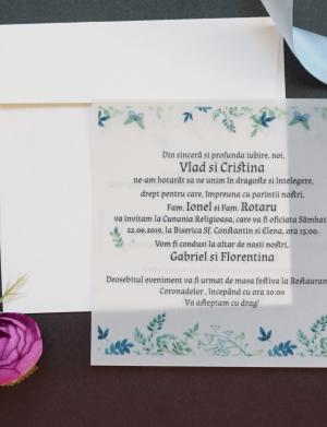 Invitatie nunta suport semitransparent OPIS026