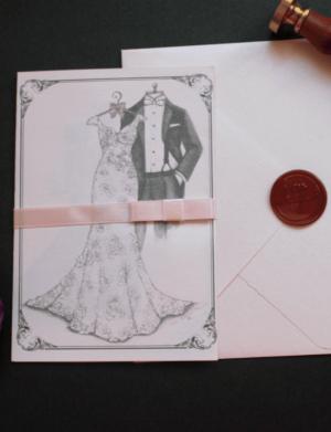 Invitatie nunta cu sigiliu OPIS036