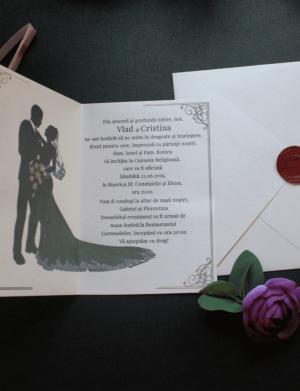 Invitatie nunta (nu include sigiliul de ceara) OPB036