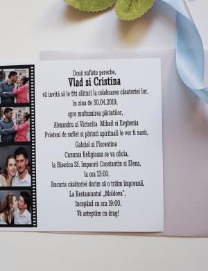 Invitatie nunta suport mat ori lucios OPIS038