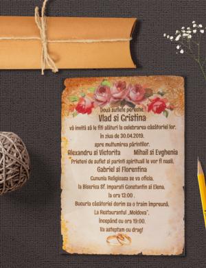 Invitatie suport canvas OPIS004