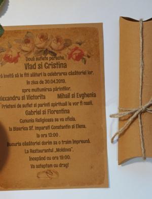 Invitatie nunta suport cartonat OPIS035