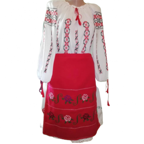 Costum popular format din 3 piese ie fusta si fote2