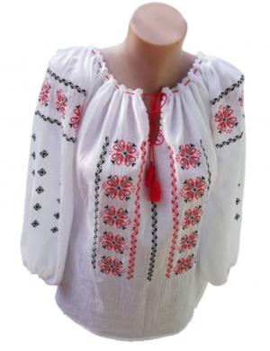 Ie romaneasca stilizata dama, bumbac 100% de calitate superioara, brodata cu motive traditionale – LLDJ10124