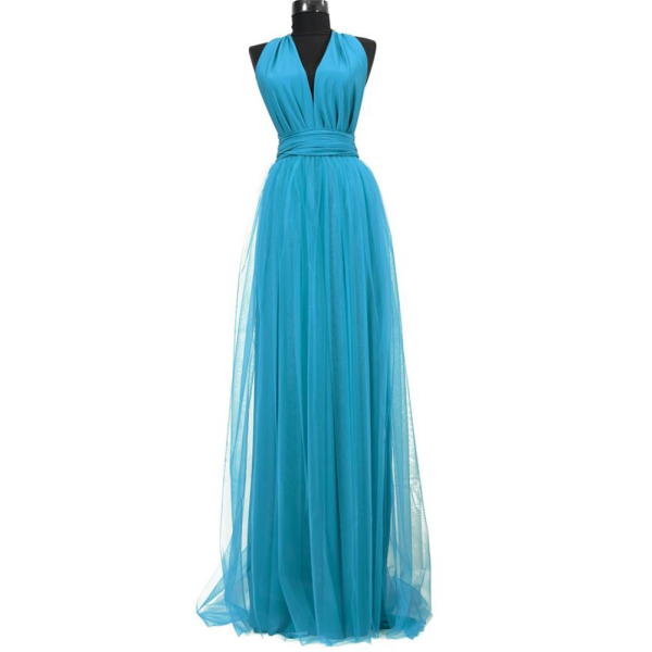 Rochie lunga cu tulle 23h Events 14