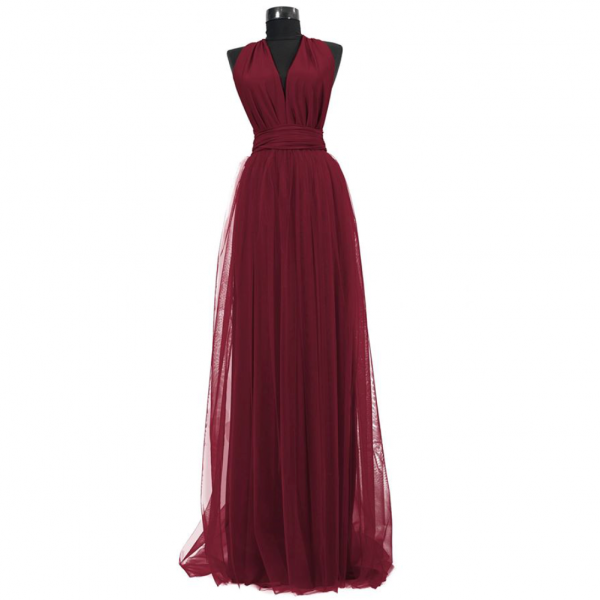 Rochie lunga cu tulle 23h Events 3