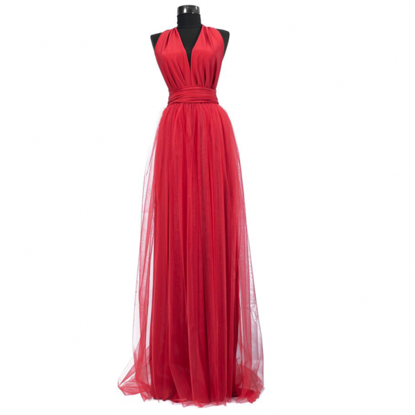Rochie lunga cu tulle 23h Events 4