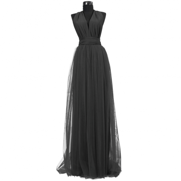 Rochie lunga cu tulle 23h Events 6