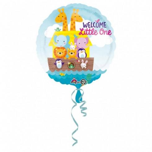 balon folie 45 cm animalute welcome little one