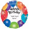 balon folie 45 cm happy birthday personalizabil