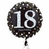 balon folie 45 cm sparkling 18 ani