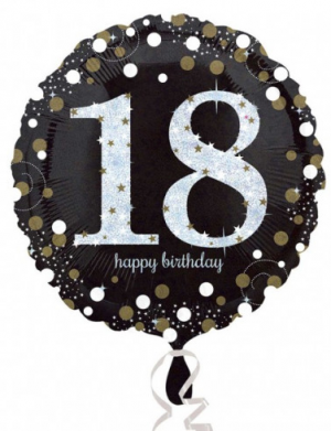Balon folie 45 cm Sparkling 18 ani FTB046