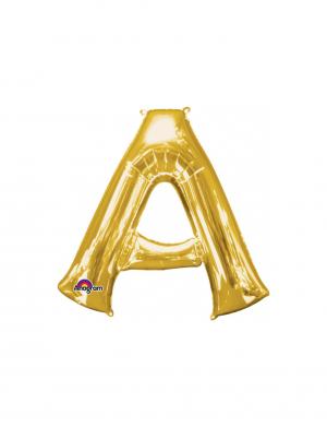 Balon folie litera A auriu 86 cm FTB037