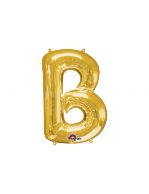 Balon folie litera B auriu 86 cm FTB036