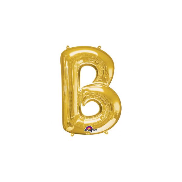 balon folie aurie litera b 86 cm
