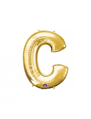 Balon folie litera C auriu 86 cm FTB035