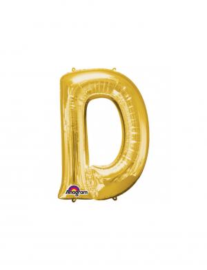 Balon folie litera D auriu 86 cm FTB034
