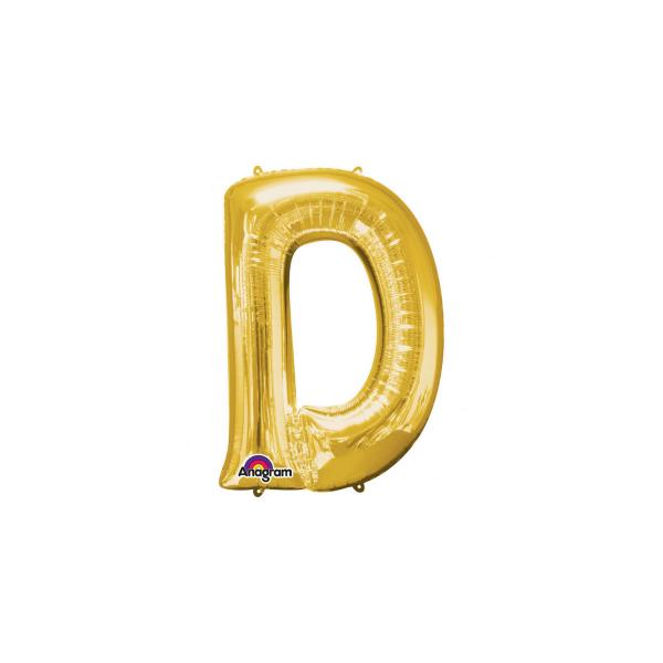 balon folie aurie litera d 86 cm