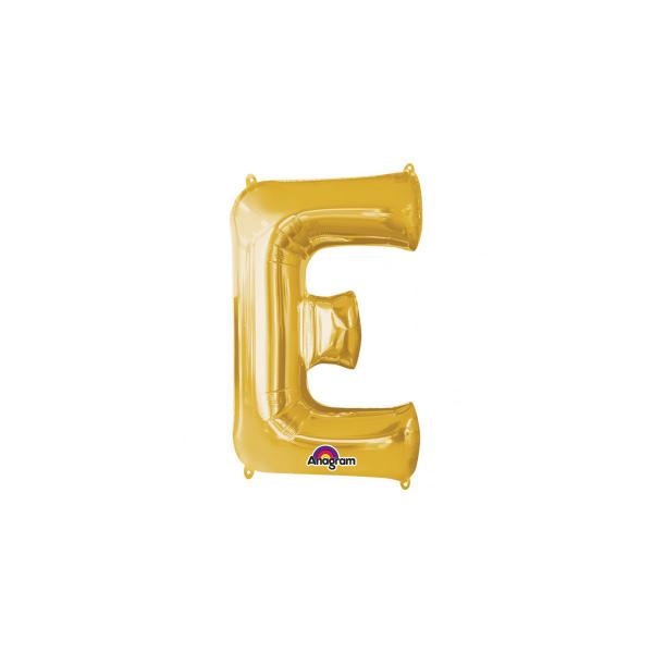 balon folie aurie litera e 86 cm