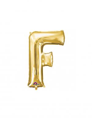 balon folie aurie litera f 86 cm