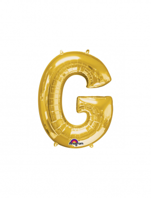 Balon folie litera G auriu 86 cm FTB031