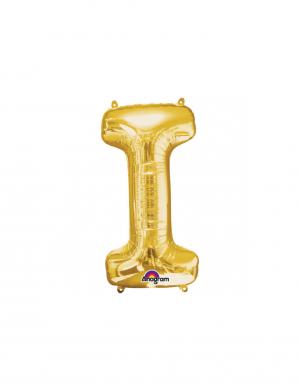 balon folie aurie litera i 86 cm