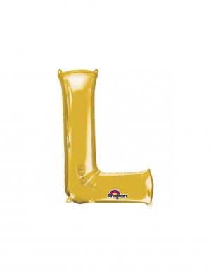 balon folie aurie litera l 86 cm