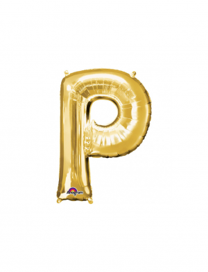 balon folie aurie litera p 86 cm