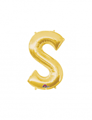 balon folie aurie litera s 86 cm