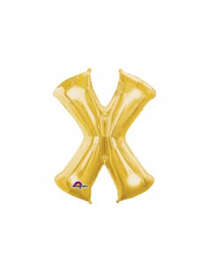 Balon folie litera X auriu 86 cm FTB014