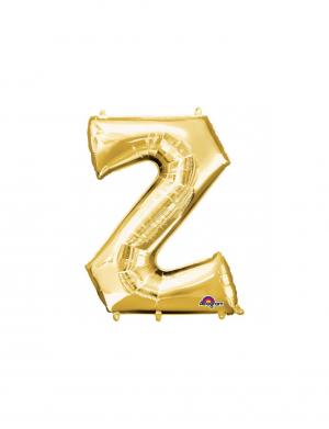 Balon folie litera Z auriu 86 cm FTB012