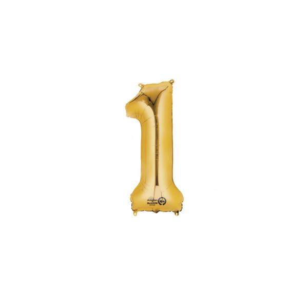 balon folie cifra 1 auriu 86 cm