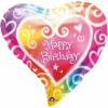 balon folie figurina 45 cm inima happy birthday