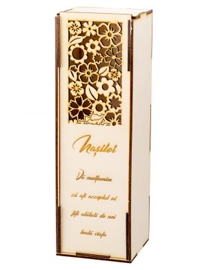 Cutie pentru sticla de vin cu flori – OMIS01241