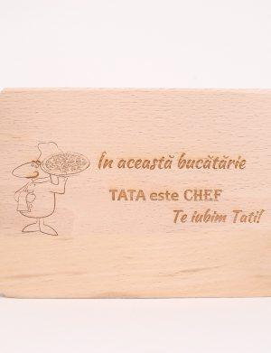 """Minitocator pentru tata """"In aceasta bucatarie TATA este CHEF, Te iubim Tati!, dim. 215x125mm – OMIS01223"""