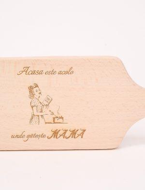 Minitocator de lemn, Acasa este acolo unde gateste mama, dim. 260×110 mm – OMIS01226