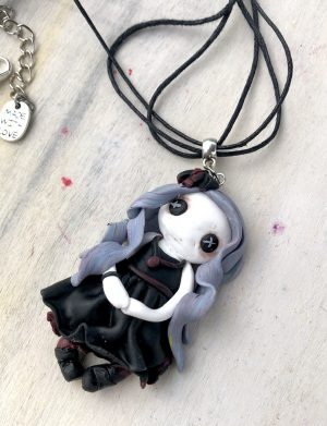 "Colier handmade pentru Halloween ""CreepyDoll"", AHGL13069"