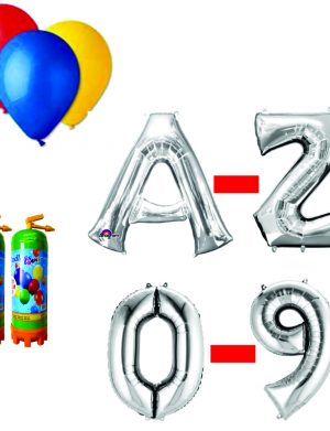 10 Pachet baloane argintii eveniment