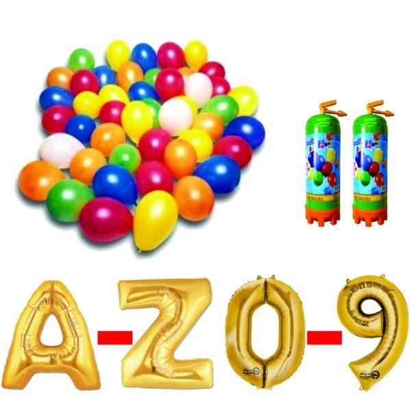 10 Pachet baloane aurii eveniment