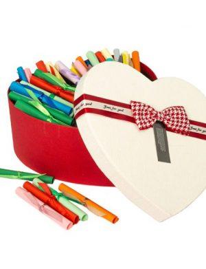 100 Motive Te Iubesc, mesaje-sul, diverse modele, cadou iubit(a), multicolor