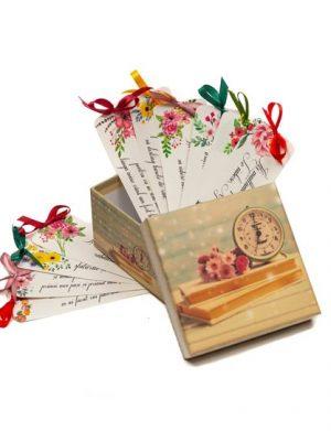 12 Motive Îți Mulțumesc, semne carte, cadou, diverse modele, multicolor