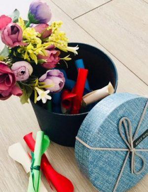 12 Motive Te Iubesc, mesaje-sul, diverse modele, cadou iubit(a), multicolor