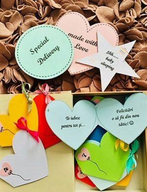 12 Motive Vei Fi Tătic, mesaje-inimioara, cadou tata, multicolor