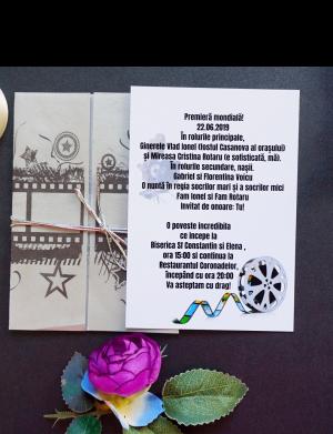 Invitatie nunta hartie foto OPIS019