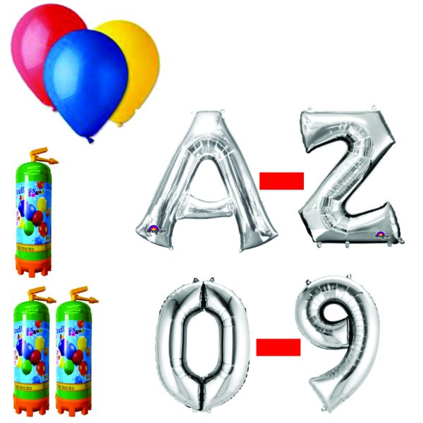 15 Pachet baloane argintii eveniment