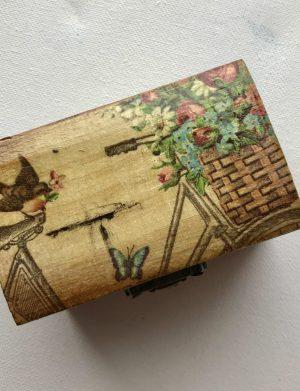 Cufar bicicleta cu flori, AHGL12200
